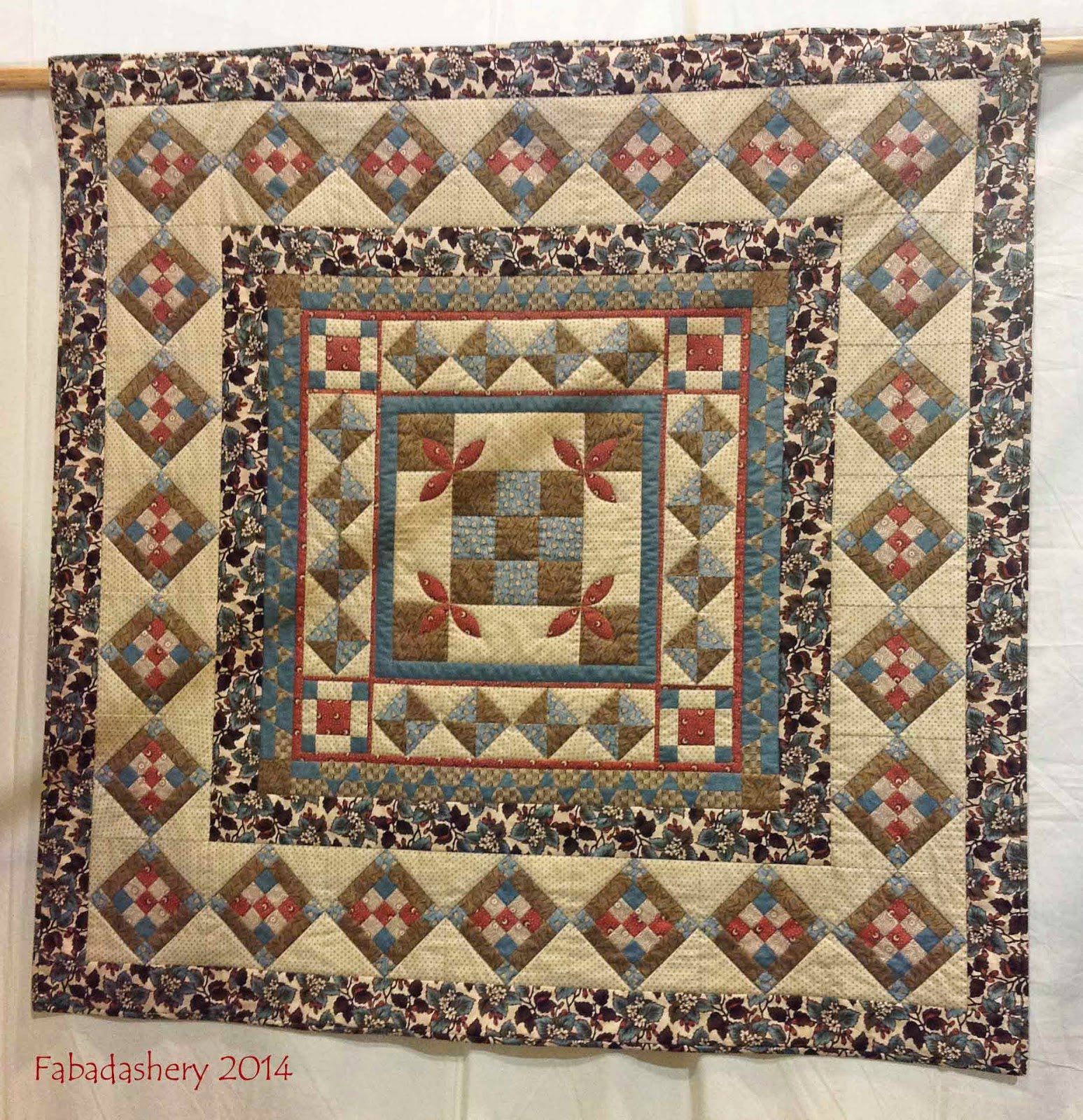 'Brick Lane' Medallion Quilt by Village Fabrics