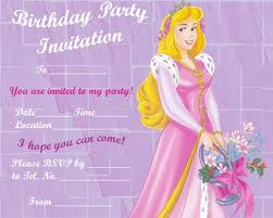 best sample for invitation letter for birthday party
