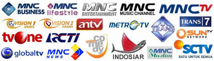 Daftar saluran televisi Indonesia di Indovision.