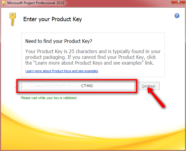 microsoft project with product key