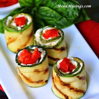 grilled zucchini rolls @ menumusings.com