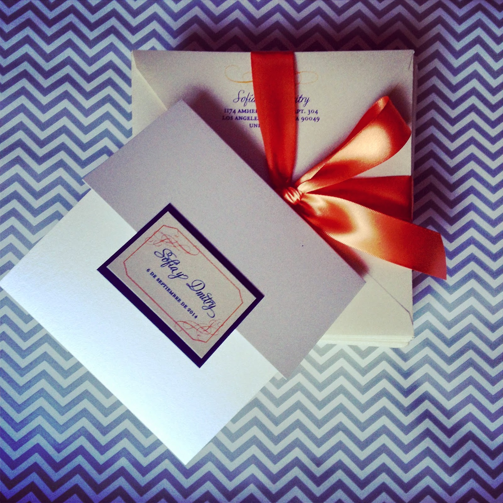2 Hearts B 1 Designs: {Wedding Wednesday} Beautiful Orange & Navy ...