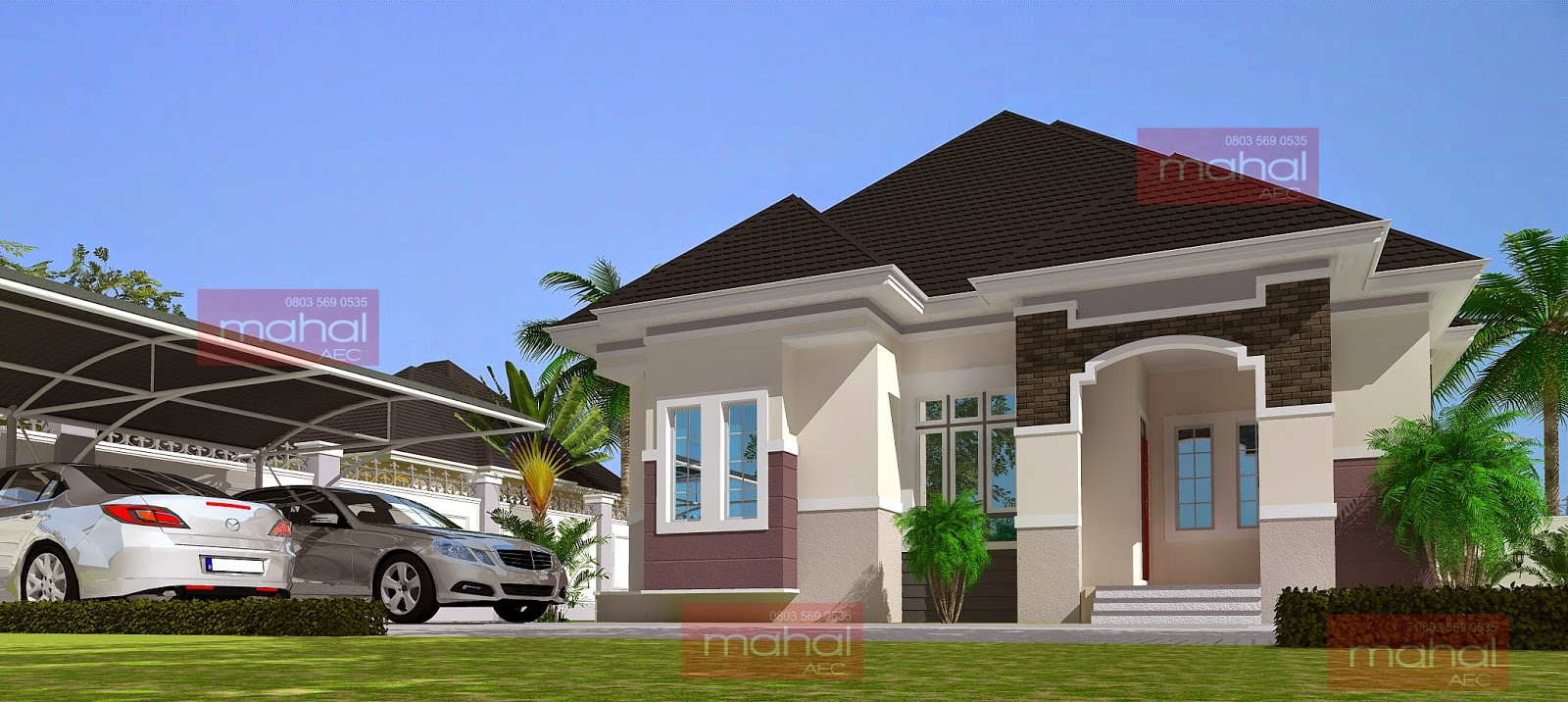 Image gallery nigerian bungalows for Nigerian home designs photos