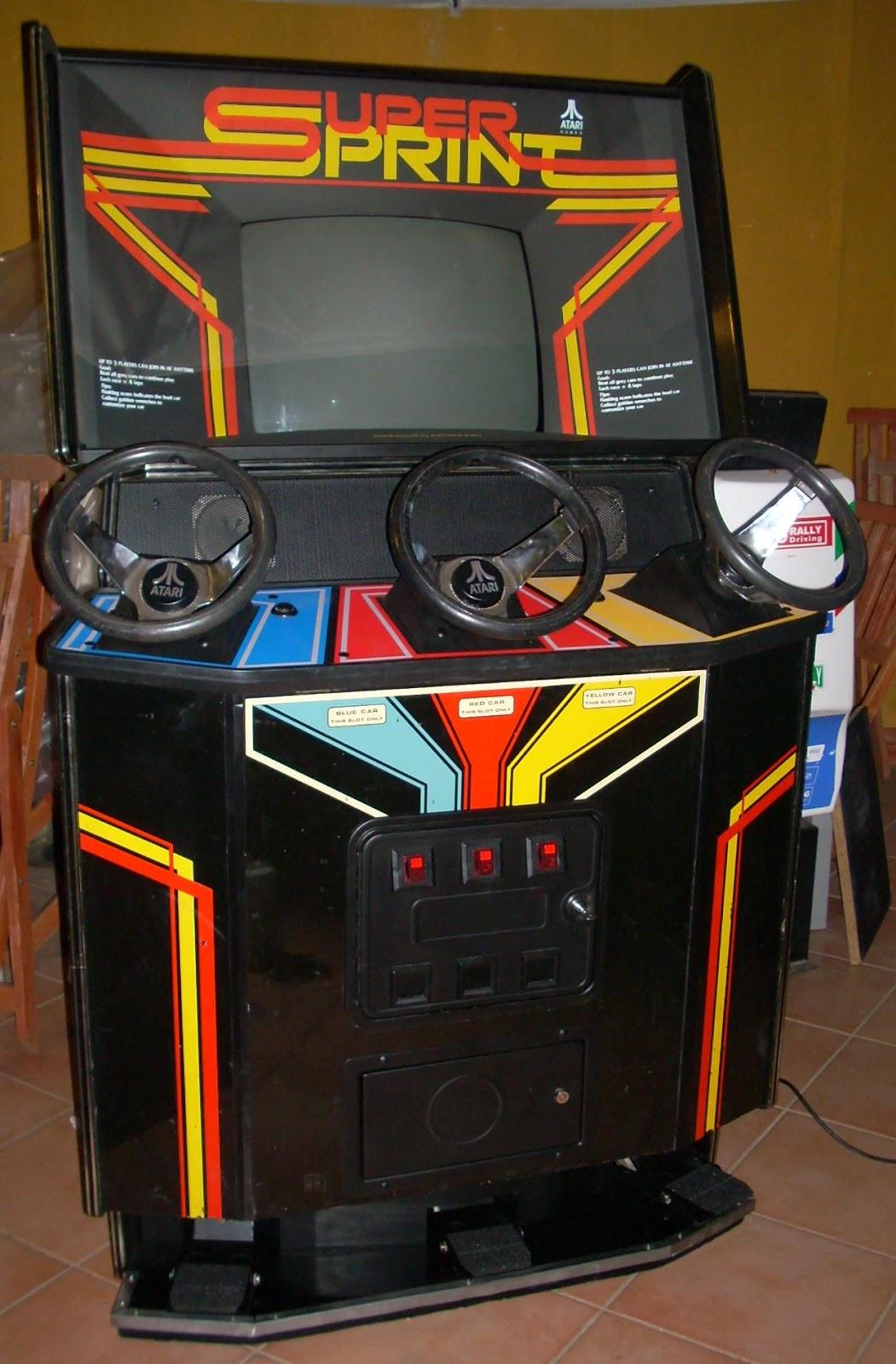 Super Sprint, Atari, Arcade Vintage