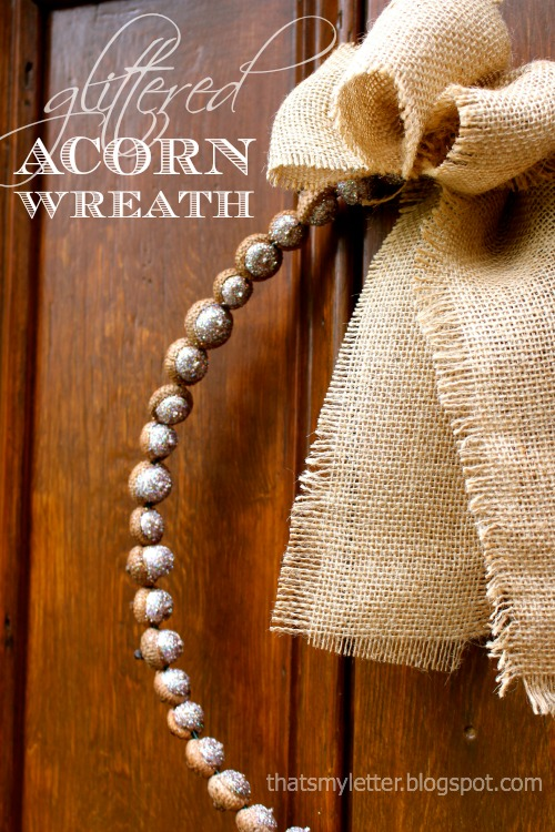 Glittered Acorn Wreath