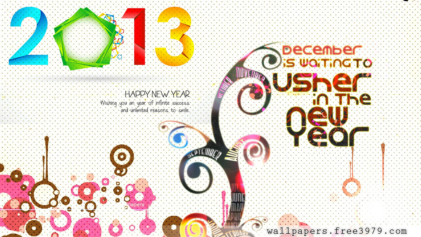 Happy New Year 2013 Free Wallpapers