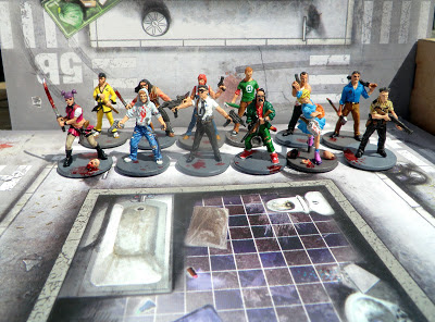 Zombicide, All, Survivors, painted, group shot,