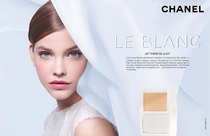 via fashioned by love | Barbara Palvin in Chanel beauty campaign 2011