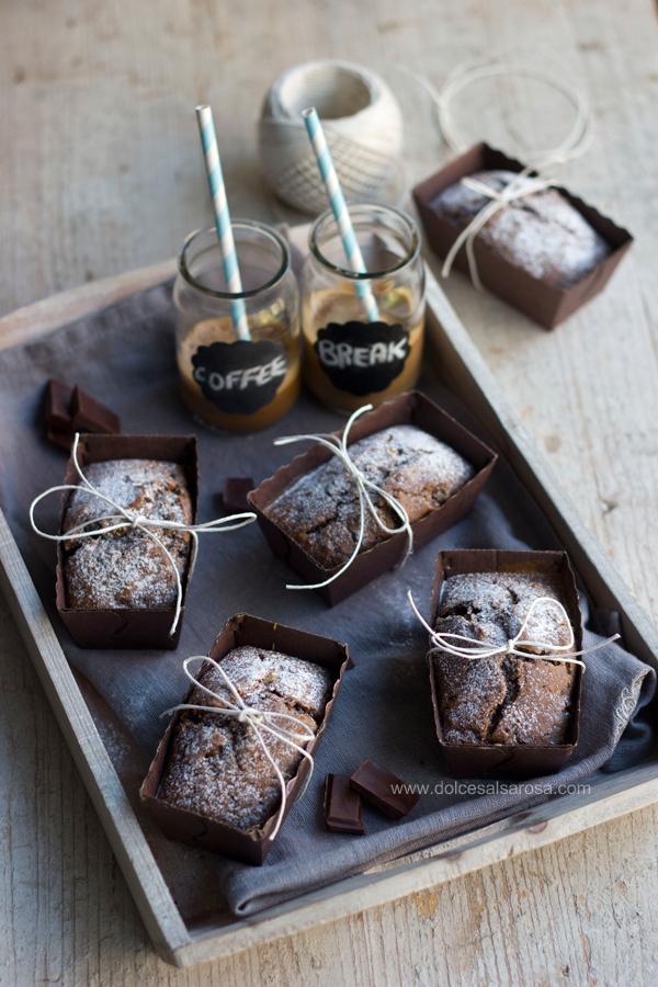 banana bread al caffè e cioccolato