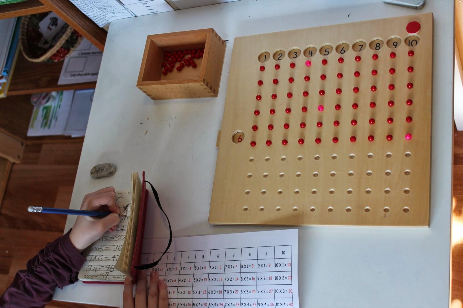 L 39 cole des amours m morisation de la multiplication for De multiplication