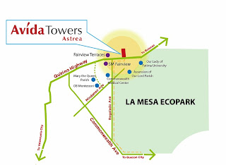 Avida Towers Astrea Fairview Quezon City Location Map