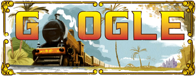 Indias first passesnger train journey google doodle