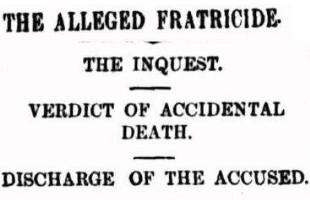 Inquest into death of Joseph Radcliffe, Melbourne, August 1895, The Argus.