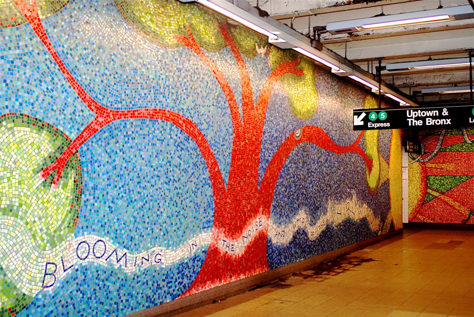 Nyc Nyc Subway Mosaic Mural Blooming By Elizabeth Murray At