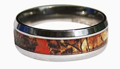 Orange Wild Amber Blaze Camouflage Ring