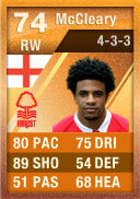 Garath McCleary (IF2) 74 - FIFA 12 Ultimate Team Card - Orange MOTM