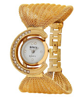 Buy GLORY GOLDEN FANCY JAAL LADIES WATCH at Rs. 217 :Buytoearn