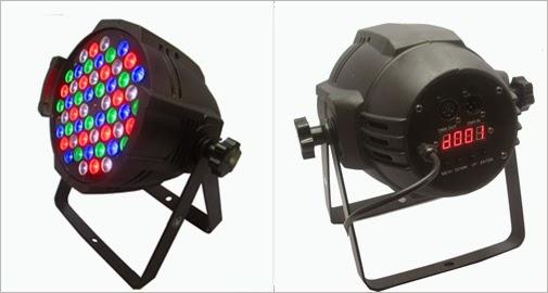 แนะนำบริการใหม่ PAR LED 54x3w. RGBW มีให้บริการ จำนวน 80 ดวง