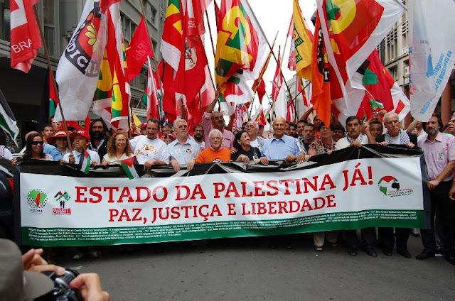 Manifestação - Fórum Social Mundial Palestina Livre
