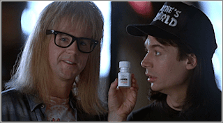 Wayne's World Nuprin commercial: Little Yellow Different