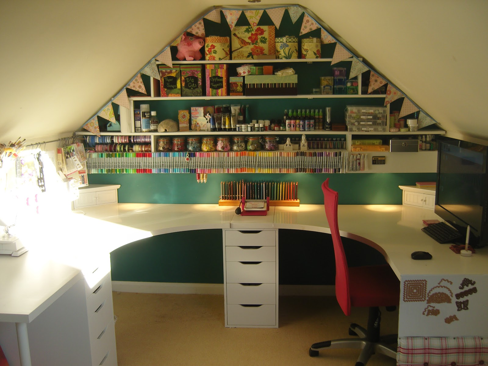 Transfer to personal scrap room ideas on pinterest craft for Crafty bedroom ideas