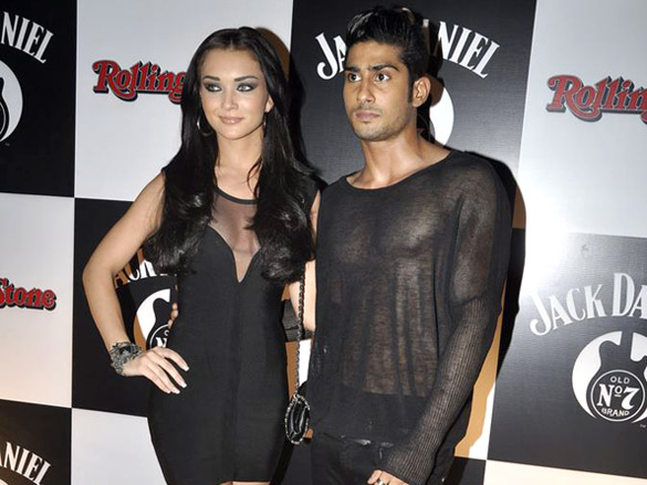 Amy Jackson with Prateik Babbar1 - Pratik and Amy Jackson At Jack Daniels Rock Awards 2012