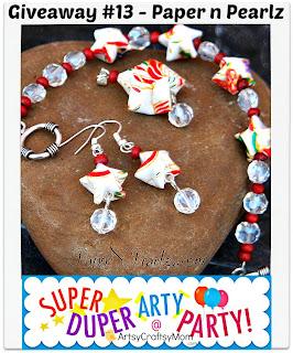 Earring Pendant Bracelet+Set+ +in+White+and+Maroon+02