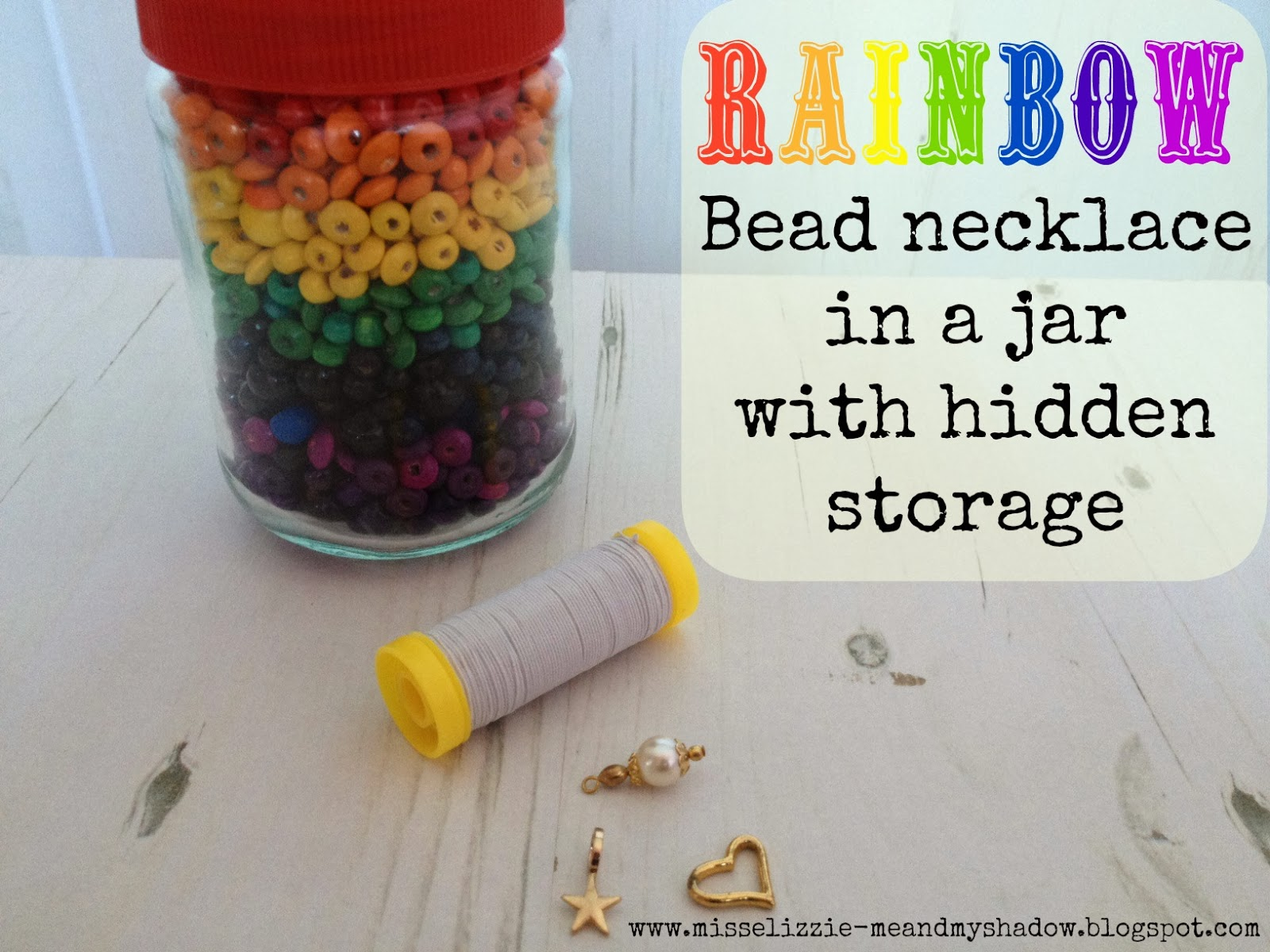 Rainbow bead jar