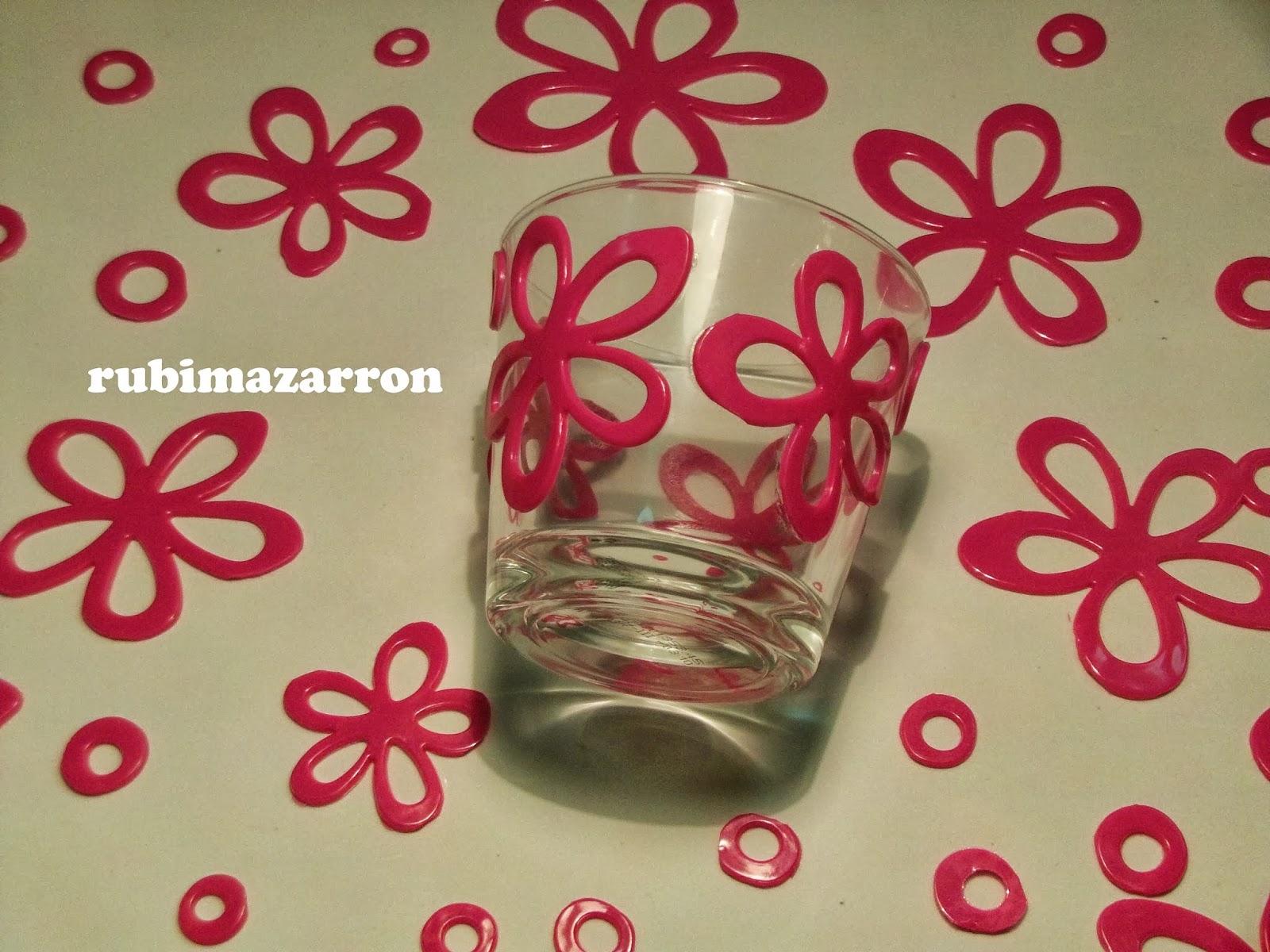 Rubi fotos de mis manualidades manualidades decorar - Decorar vasos plasticos para cumpleanos ...