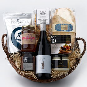 image of gourmet christmas hamper featuring hunter valley food and wine