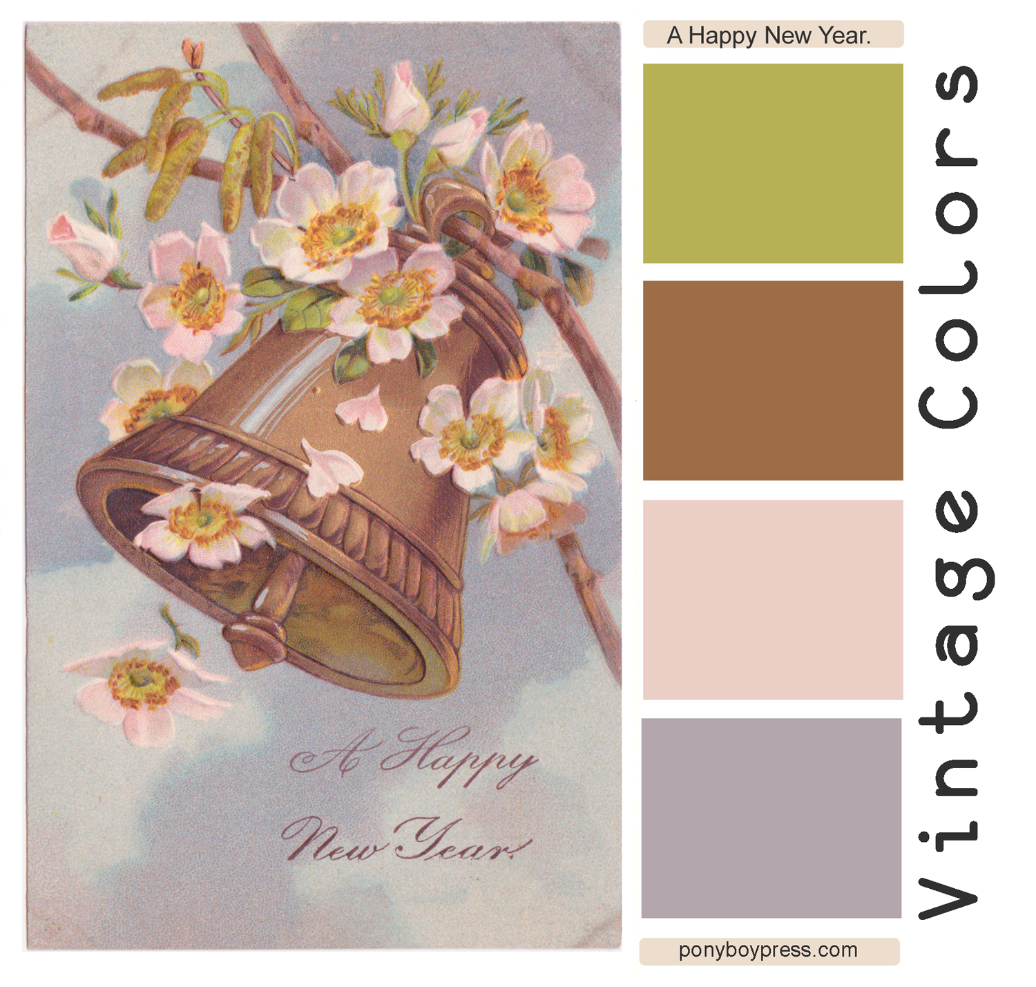 A Happy New Year Vintage Color Palettes on Ponyboy Press blog