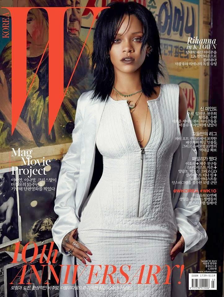 Smartologie Rihanna For W Magazine Korea March 2015