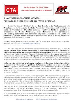 Documento entregado a la Portavoz de Medio Ambiente del PP
