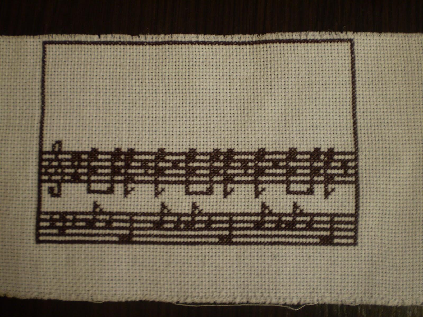 схема вышивки крестом рождественской закладки