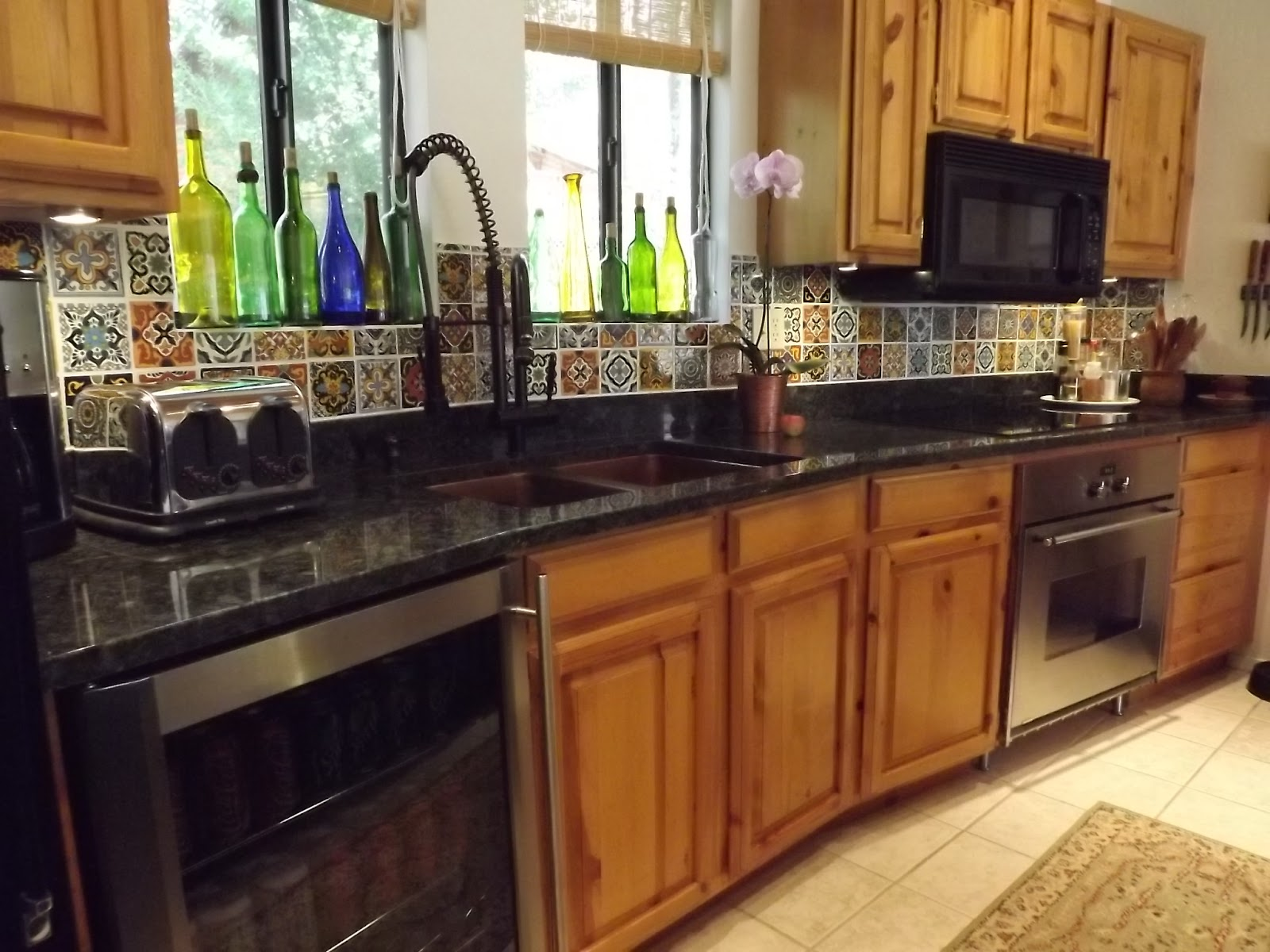 Mexican tile backsplash kitchen