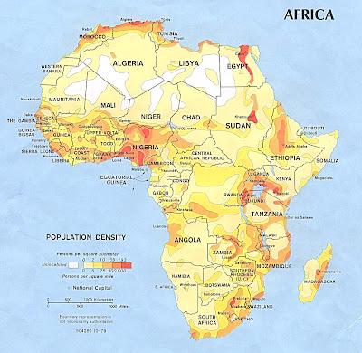 Carte de Afrique Departement Région