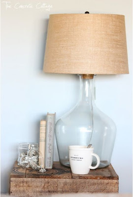 Pottery Barn Inspired Glass Bottle Lamp