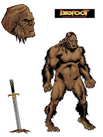 Bigfoot Sword Earthman comic book character design