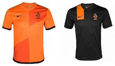 Netherlands Home+Away Euro 2012 Kits (Nike)