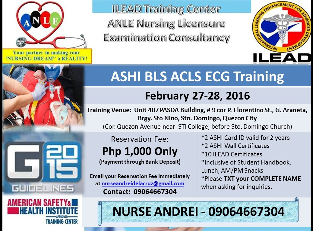 Its Rndrei Bls Acls Ecg Training Quezon City Phlebotomy Training
