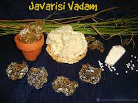 images of Javarisi Vadam / Sago Vadaam / Javvarisi Vadam Recipe