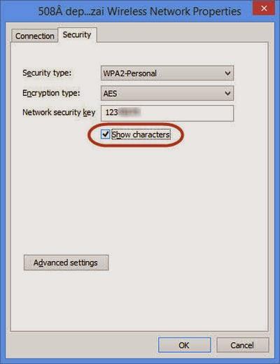 Mẹo xem lại password Wi-Fi đã kết nối trên Windows 8