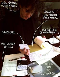 Neil Gaiman with Curio & Co. - Gadabout TM-1050 time machine user manual - Curio and Co. Curio & Co. www.curioandco.com - by Cesare Asaro and Kirstie Shepherd