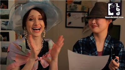 The Lizzie Bennet Diaries: Lizzie and Charlotte dressed up as Mr and Mrs Bennet