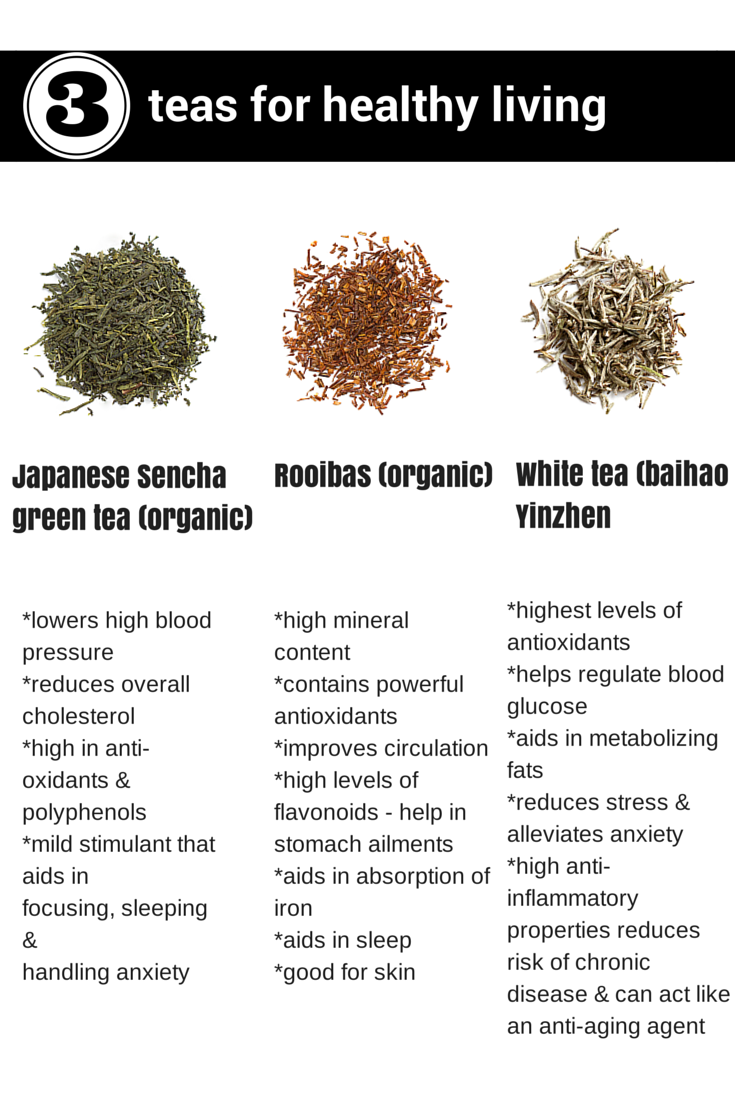 3 teas for healthy living