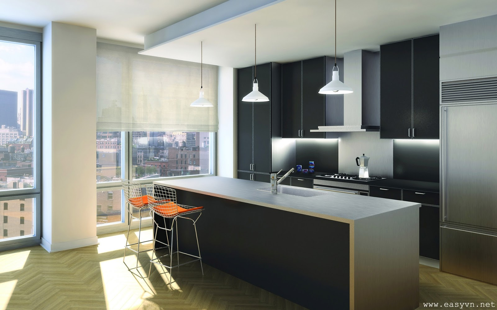 Download free beautiful kitchens wallpapers most for Kitchen wallpaper
