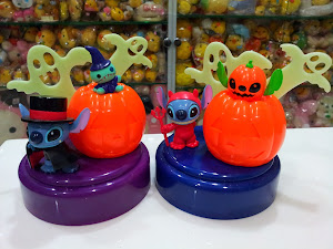 Disney Sega Halloween Light Up Stitch Scrump Figures