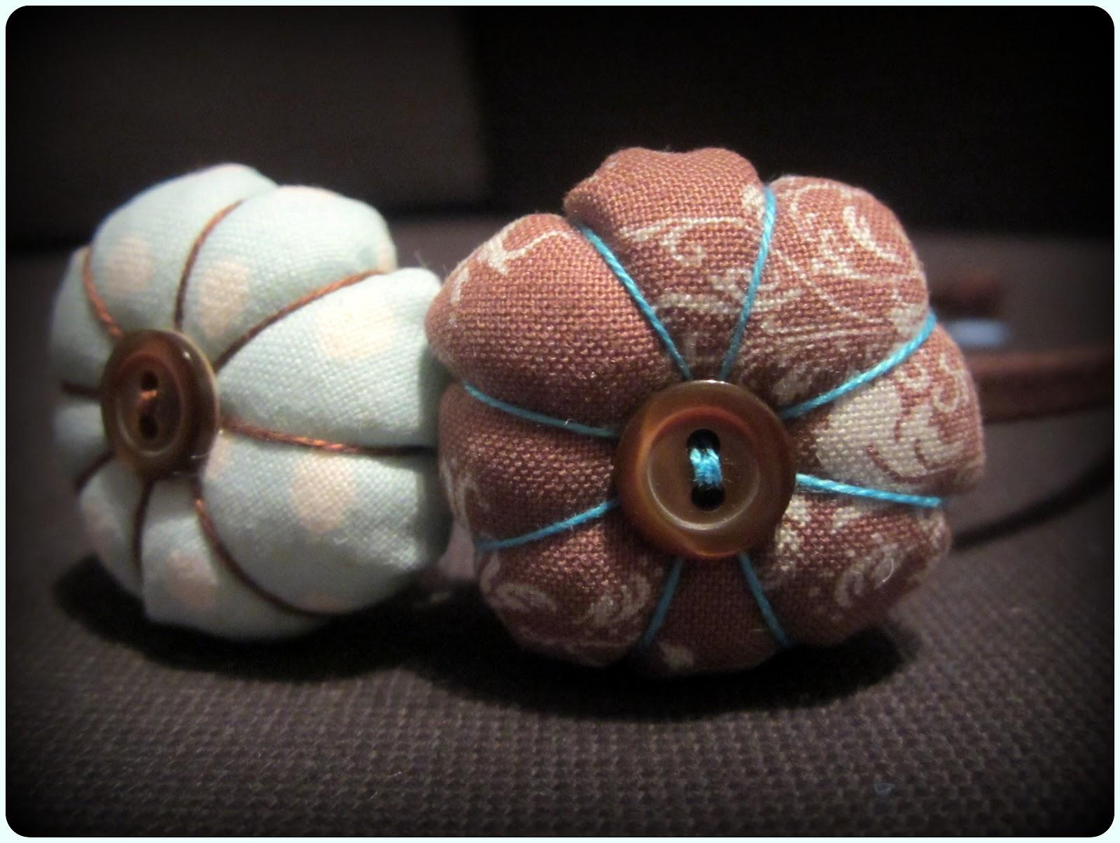 Diadema flor de tela - Marrón y Azul - ChikiPol