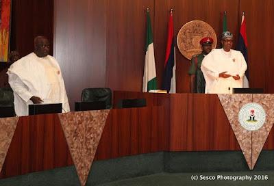Photos: See What Buhari Did at FEC meeting