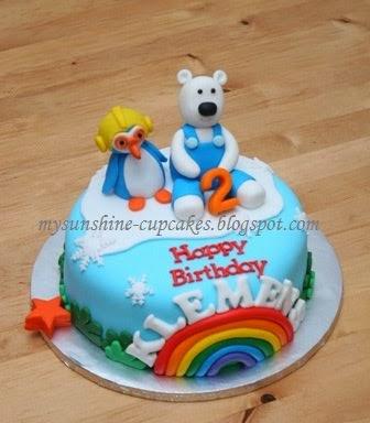 Fondant cake wt figurine